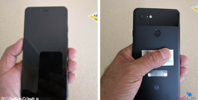 Google Pixel 3 XL Live Images reveal notch display, dual front cameras and more