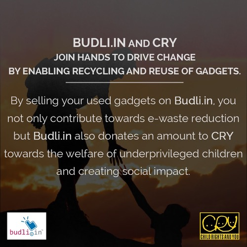 Budli partnership with CRY